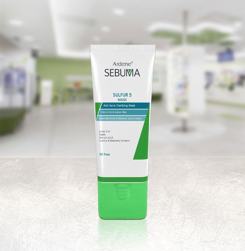 ماسک ضد جوش و پاکسازی کننده پوست آردن سری Sebuma حجم 75 میلی لیتر